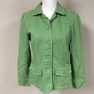 CABI Green Jacket 100% Cotton size medium